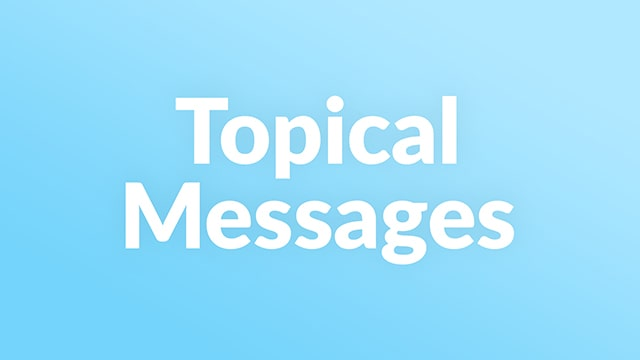 These Messages Explore Many And Varied Christian Topics.